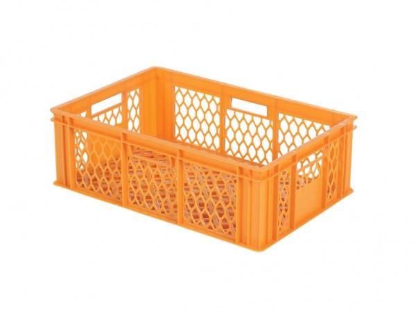 Stapelbehälter durchbrochen - 600x400xH198mm - Orange - Bäckerkiste