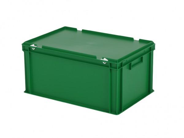 Stapelbehälter mit Deckel - 600x400xH295mm - Grün