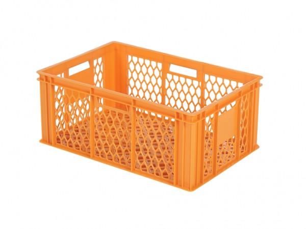 Stapelbehälter durchbrochen - 600x400xH250mm - Orange - Bäckerkiste