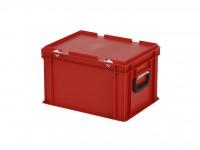 Kunststoffkoffer - 400x300xH250mm - Rot 30.424.KO.4