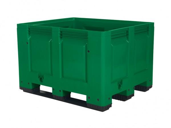 Kunststoff Palettenbox - 1200x1000mm - 3 Kufen - Grün