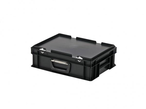 Kunststoffkoffer - 400x300xH133mm - Schwarz