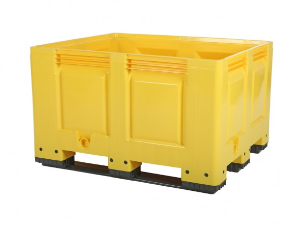 Palettenbox - 1200x1000mm - 3 Kufen - Gelb