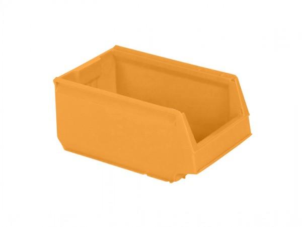 Sichtlagerkasten Kunststoff - 350x206xH150mm - Orange-Gelb