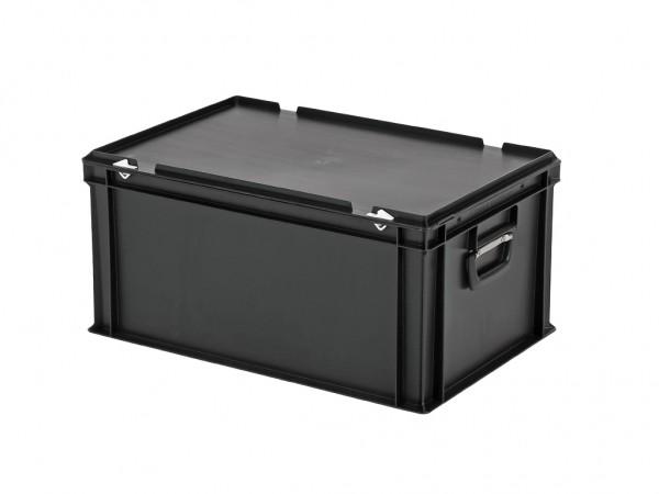 Kunststoffkoffer - 600x400xH295mm - Schwarz