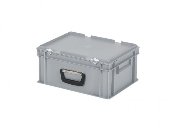 Kunststoffkoffer - 400x300xH190mm - Grau