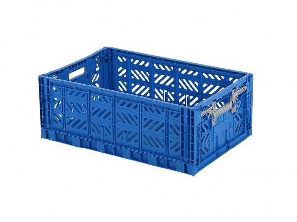 MULTIWAY Faltbehälter - 600x400xH220 mm - Blau - Graue Griffe