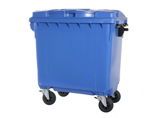 Müllcontainer 770 Liter - 4 Räder - Blau - Müllgroßbehälter