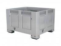 Kunststoff Palettenbox - 1200x1000mm - auf 4 Füßen - Grau 4401.100.554