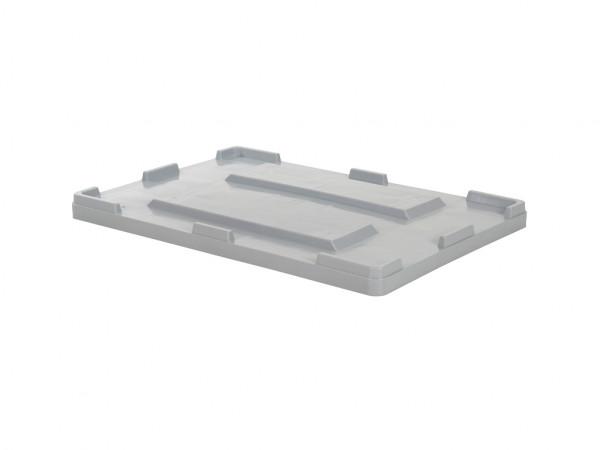 Palettenbox Aufliegedeckel - 1200x800mm - Grau