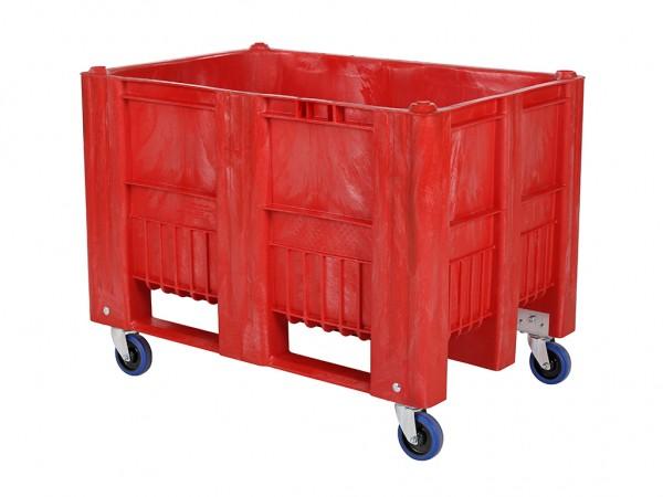 CB1 Palettenbox - 1200x800mm - auf Rollen - Rot