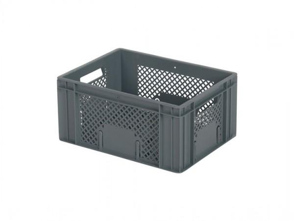 Stapelbehälter 400x300xH193mm - durchbrochen - Grau