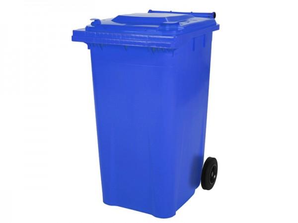 Mülltonne 240 Liter - Blau - 2 Räder - Wertstofftonne - Müllgroßbehälter