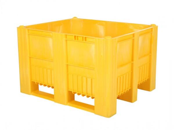 CB3 Palettenbox - 1200x1000mm - 3 Kufen - Gelb