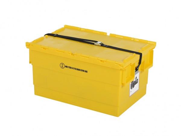 Gefahrgutbehälter für Lithium-Ionen Akkus - 600x400xH300mm - Gelb