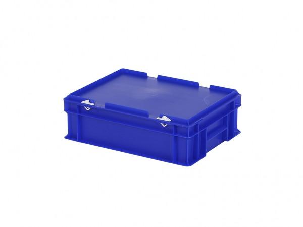 Stapelbehälter mit Deckel - 400x300xH133mm - Blau