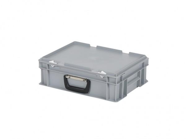 Kunststoffkoffer - 400x300xH133mm - Grau