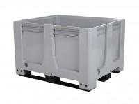Kunststoff Palettenbox AIR - 1200x1000mm - auf 3 Kufen - Grau 4429.300.554