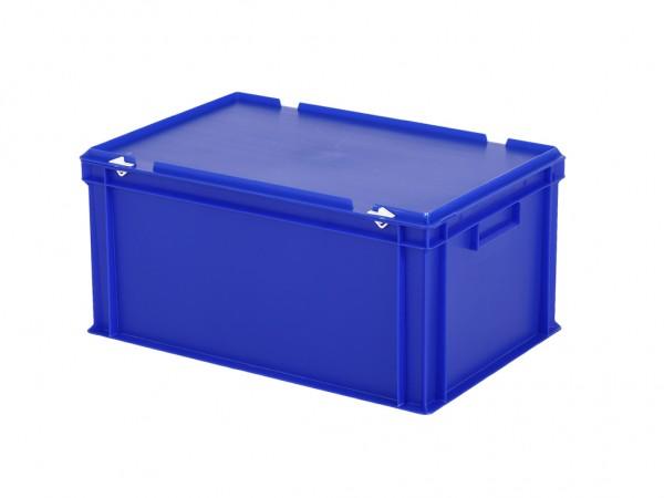 Stapelbehälter mit Deckel - 600x400xH295mm - Blau