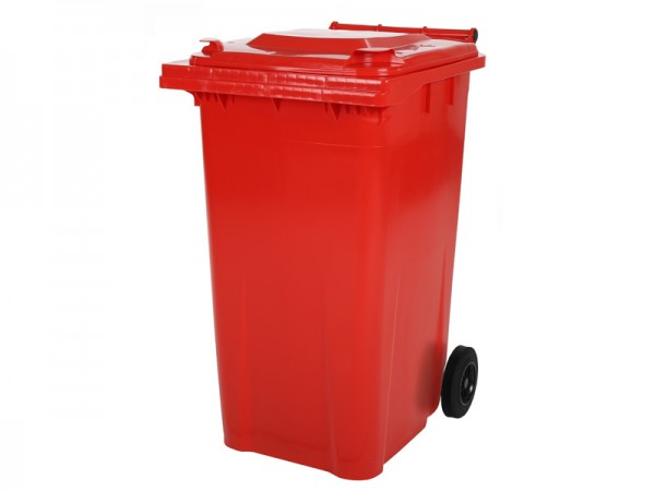 Mülltonne - 240 Liter - Rot