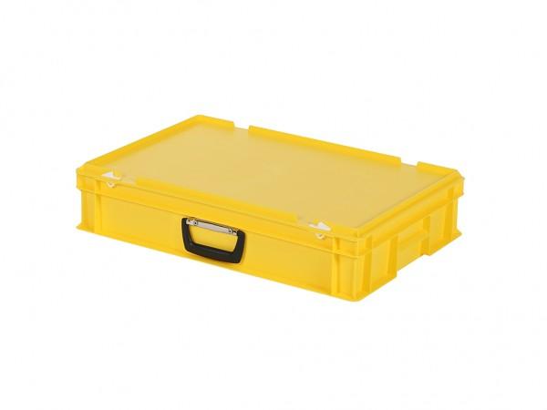 Kunststoffkoffer - 600x400xH135mm - Gelb
