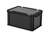 Stapelbehälter mit Deckel - 600x400xH335mm - Schwarz 30.632.DB.10