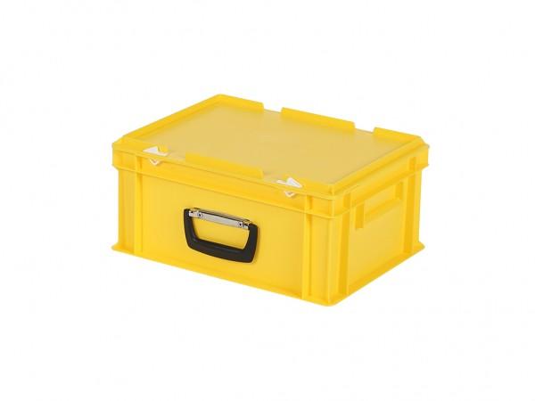 Kunststoffkoffer - 400x300xH190mm - Gelb
