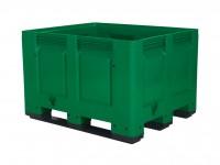 Kunststoff Palettenbox - 1200x1000mm - 3 Kufen - Grün 4401.300.447