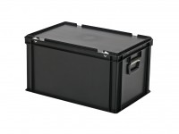 Kunststoffkoffer - 600x400xH335mm - Schwarz 30.632.KO.10