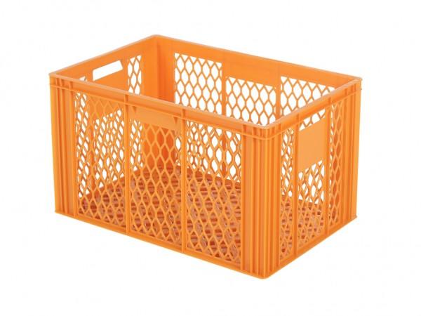Stapelbehälter 600x400xH349mm - durchbrochen - Orange - Bäckerkiste