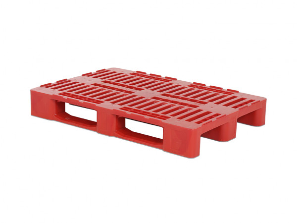 Kunststoff Europalette H1 - 1200x800mm - Rot
