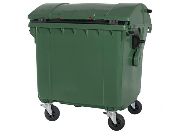 Müllcontainer - 1100 Liter - Schiebedeckel - Grün