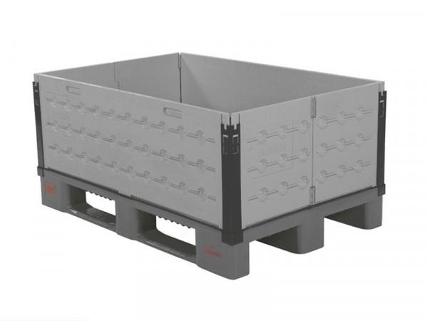 Faltbarer Aufsatzrahmen aus Kunststoff - 1200 x 800 mm - 6 Scharniere - Grau
