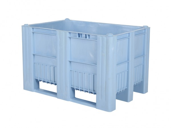 CB1 Kunststoff Palettenbox - 1200 x 800 mm - auf 3 Kufen - Hellblau
