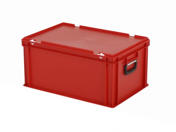 Kunststoffkoffer - 600x400xH295mm - Rot