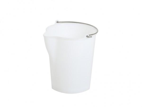 Kunststoffeimer mit Ausgießer - 12 Liter - heavy duty - Weiß