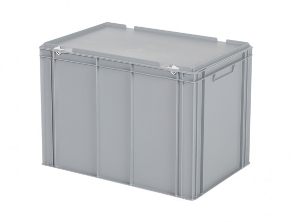 Stapelbehälter mit Deckel - 600x400xH439mm - Grau