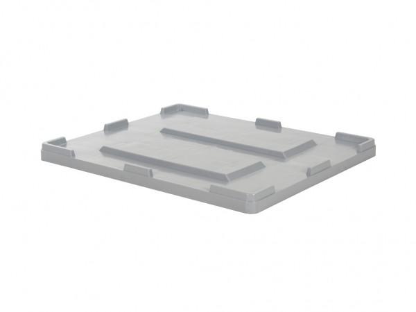 Palettenbox Aufliegedeckel - 1200x1000mm - Grau
