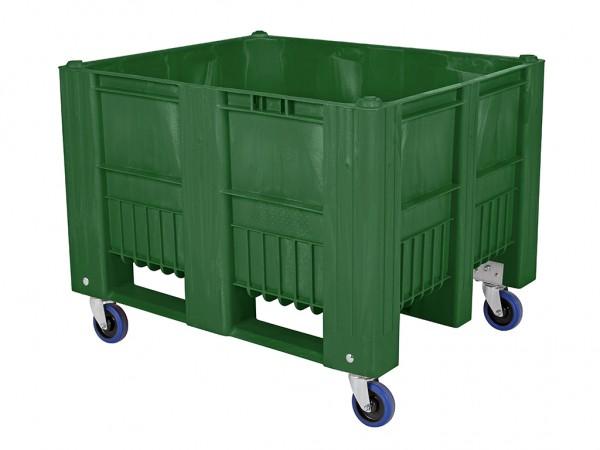 CB3 Palettenbox - 1200x1000mm - auf Rollen - Grün