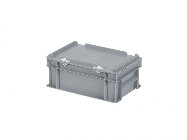 Stapelbehälter mit Deckel - 300x200xH133mm - Grau