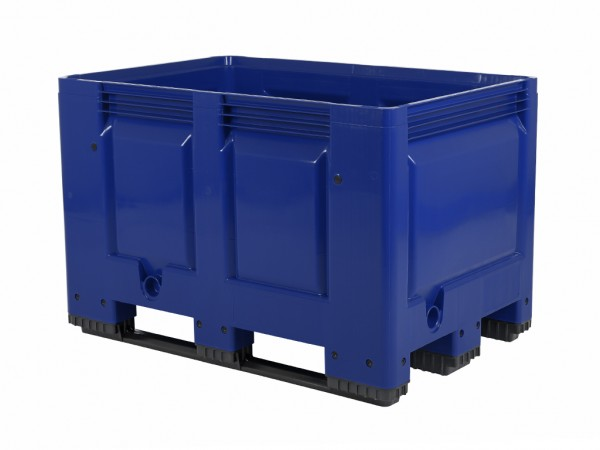 Palettenbox - 1200x800mm - 3 Kufen - Blau