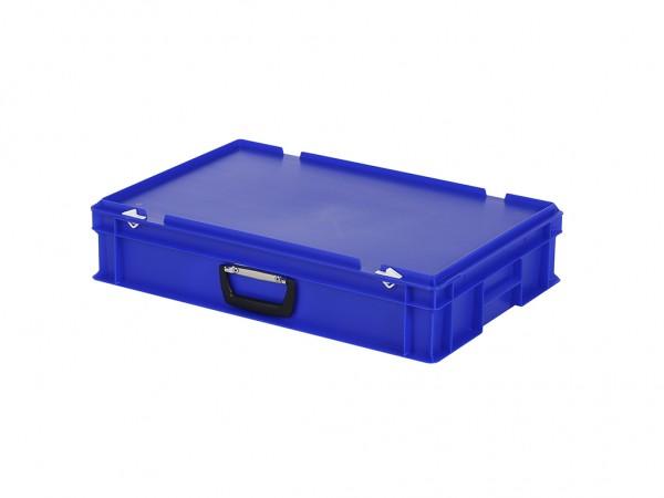 Kunststoffkoffer - 600x400xH135mm - Blau