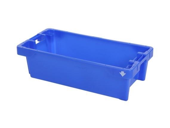 Fischkasten - 800x400xH225mm - 25kg - 40l - Blau