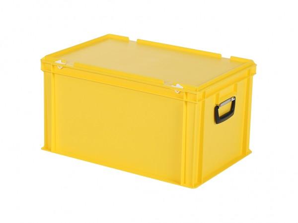 Kunststoffkoffer - 600x400xH335mm - Gelb