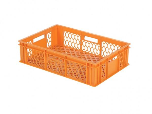 Stapelbehälter 600x400xH154mm - durchbrochen - Orange - Bäckerkiste