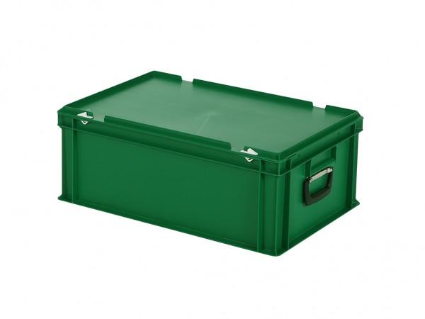 Kunststoffkoffer - 600x400xH235mm - Grün
