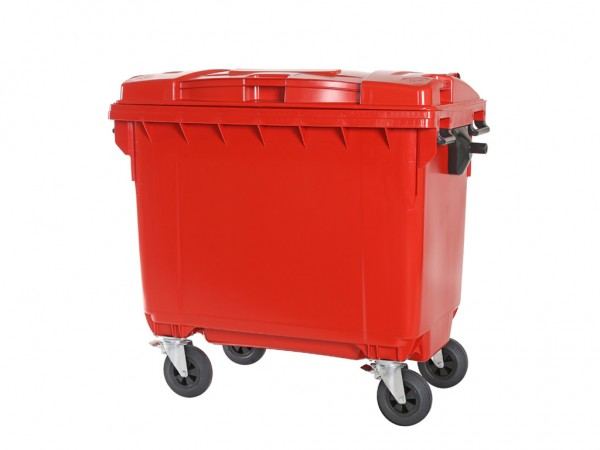 Müllcontainer 660 Liter - Rot