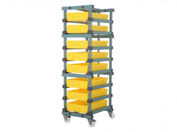 Behälterwagen - für 8 Behälter 600x400mm