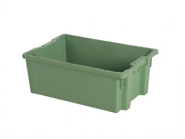 Stapel-nestbarer Behälter - 600x400xH220mm - Grün