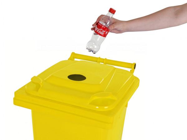 Sammelbehälter für Pfandflaschen - 120 Liter - Gelb